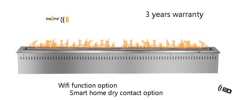 60 Inch Remote Control Silver Ethanol Real Flame Camino Elettrico Con Inserto