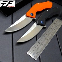EF Folding Knife G10 handle 9CR18 blade Outdoor camping hunting flipper knife Folding tactical survival knives free shipping hot f3 new folding knife tactical knife d2 blade stone wash g10 handle survival camping hunting knives tools free shipping