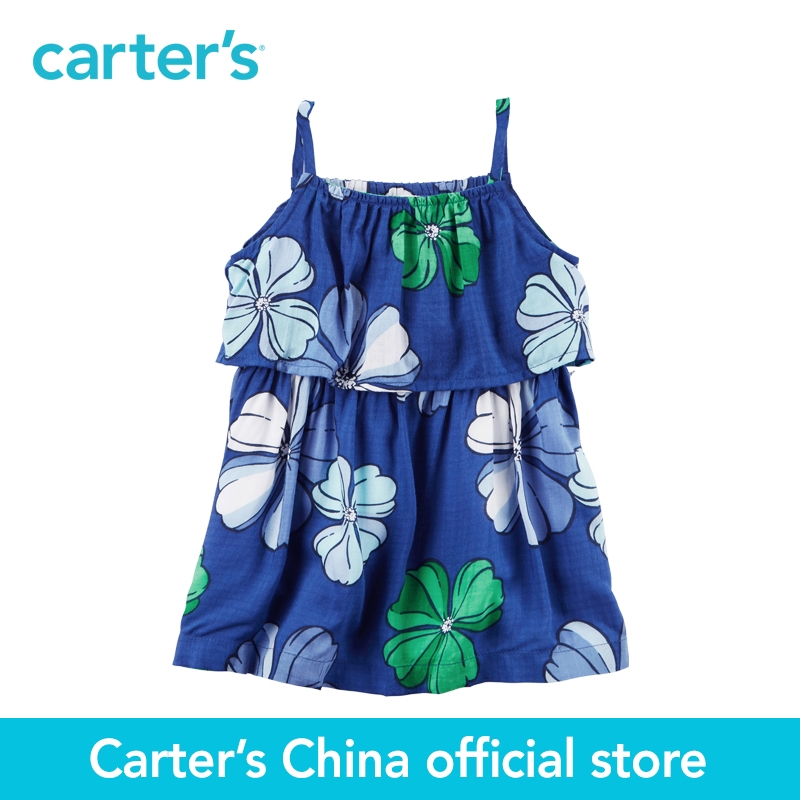Carter's 1pcs baby children kids girl clothing spring&summer Layered Hawaiian Dress a floral design 118H305