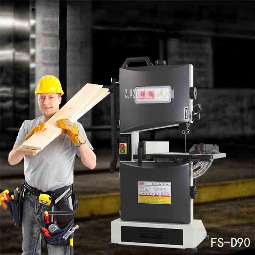 FS D90 Многофункциональный ленточнопильный станок, небольшой домашний деревообрабатывающий станок для резки бусин, профессиональный ленточ