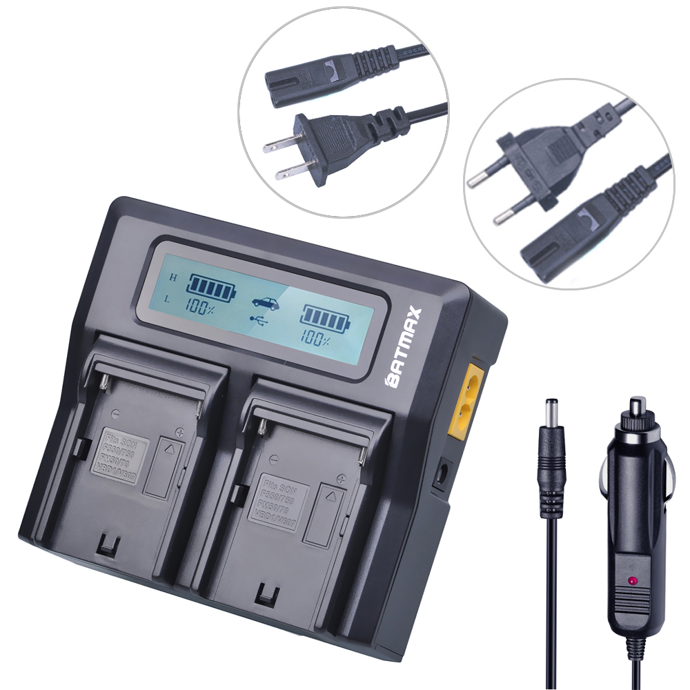 Rapid Dual Channel Battery Charger Kits for SONY NP-F550 FM50 FM500H F970 F960 F770 F750 F570 FX1000E BC-V615,BC-V615A Batteries durapro 4pcs np f970 np f960 npf960 npf970 battery lcd fast dual charger for sony hvr hd1000 v1j ccd trv26e dcr tr8000 plm a55