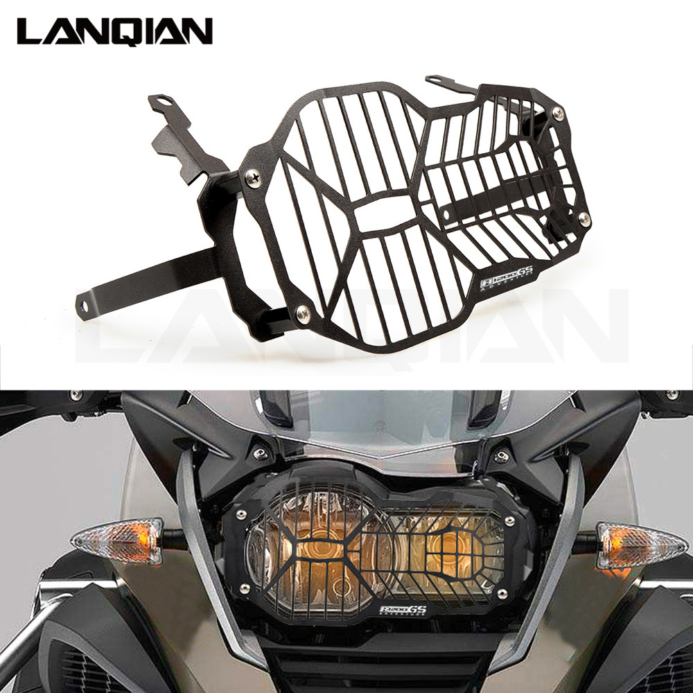 For BMW R1200GS R 1200 GS LC / Adventure R1200 GS 2012-2018 Motorcycle Headlight Protector Grill Guard Cover 2013 2014 2015 2016 kemimoto for bmw motorcycle front brake caliper cover protection cover guard for bmw r nine t 2014 2017 r1200gs lc 2013 2015