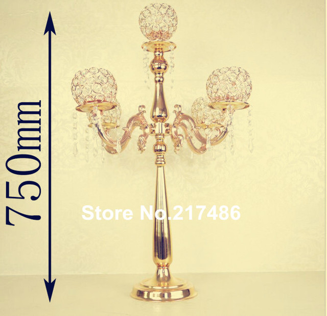 New Arrival Large And Tall Metal Trumpet Vases Wedding Centerpieces Gold