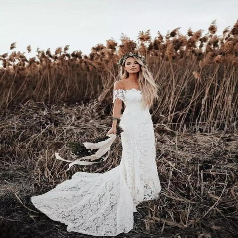 Top 8 Most Popular Bohemia Sleeve Wedding Dress Ideas And Get Free