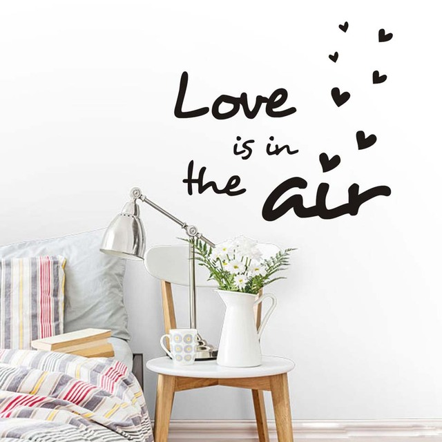 love is in the air wall decals home love wall stickers quotes