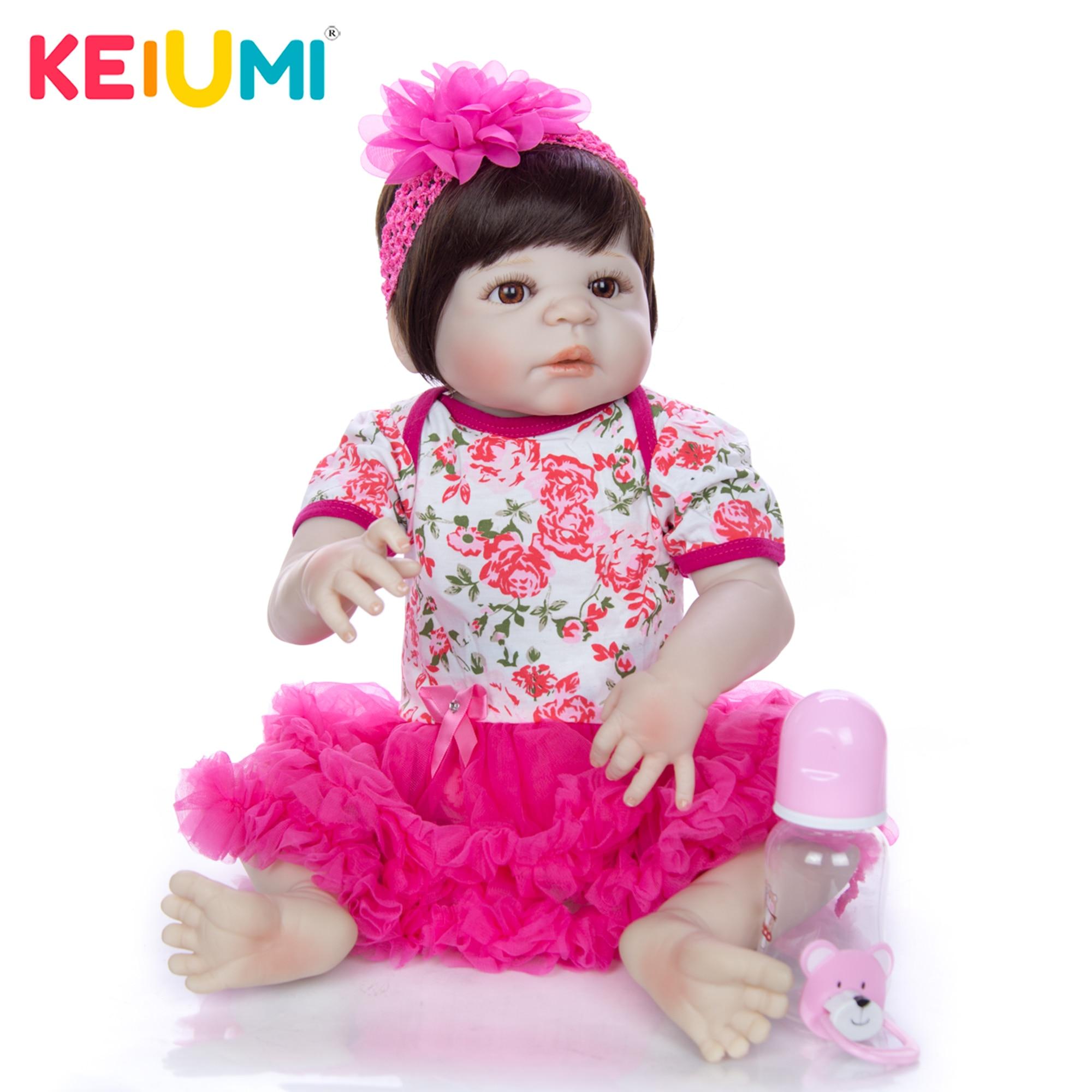 Sweet Princess Reborn Baby 23 Full Vinyl Body Silicone Babies Dolls True to Like Boneca Newborn