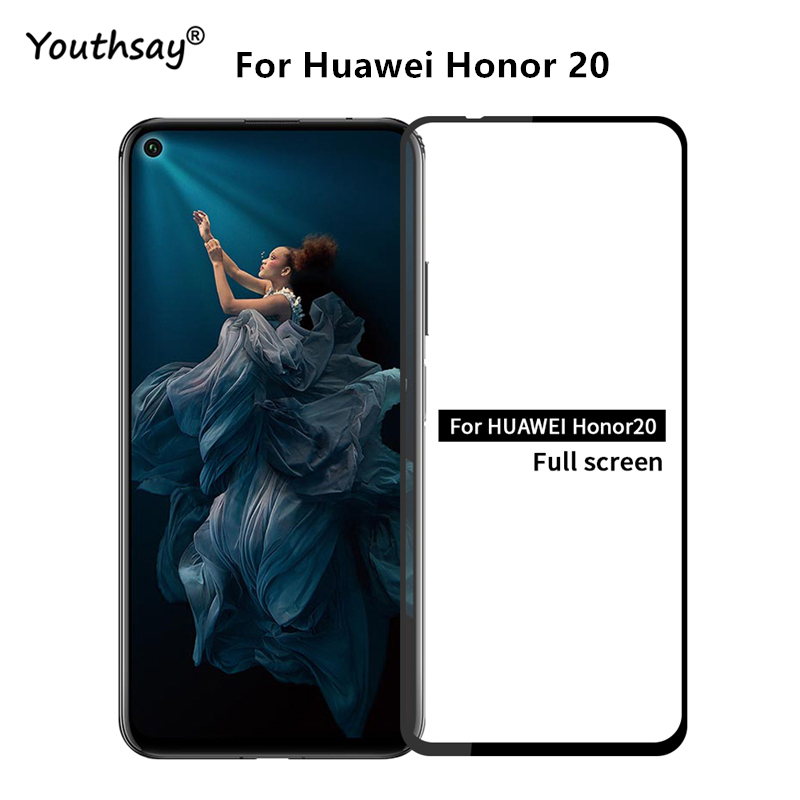 Screen Protector For Huawei Honor 20 Glass Full Cover Glass For Honor 20 Film For Huawei P Smart Z Glass Y9 Prime 2019 Nova 5T