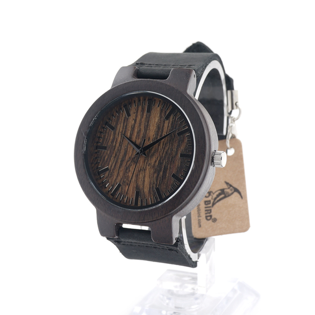 BOBO BIRD C24 New Fashion 100% Natural Bamboo Wood Watches Womens Luxury Vintage Round Watch for Ladies in Gift Box