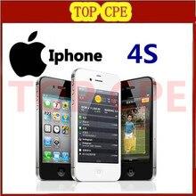 100% Original phone Factory Unlocked Iphone 4S phone 3.5'' 8MP Camera GSM WCDMA WIFI GPS Unlocked Cell phones One Year Warranty