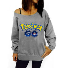 Pokemon GO Oblique Shoulder Sweatshirts
