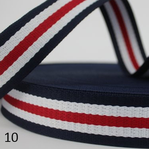 Широкий пояс для шитья мешков, 25 мм, 1 дюйм, 45 ярдов, цветной, 13 цветов, полиэстр, красный, черный