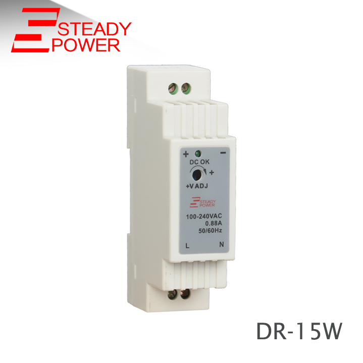MeanWell DR-15-24 15W 24V 0.63A Din-Rail Power Supply 100-240VAC-DC24V