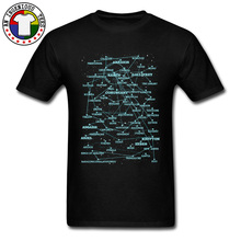 Printed Sci Fi Star Map Zodiac Planisphere Man Top T-shirts Connection Sky Fashion Cotton Print Tshirt Awesome Deisgn Retro