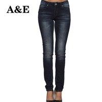 Alice & Elmer Dünne Frauen Jeans Verkürzt Frau Jeans Für Mädchen Stretch Mid Taille Weiblichen Jeans Hosen