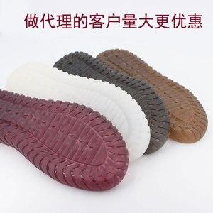 Image 4 - Hand gebreide haak zolen holle draad schoenen kristal onderkant pees onderkant haak schoenen transparante smaakloos non slip zolen