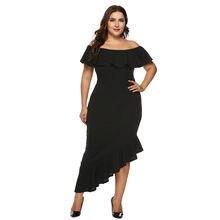 b4c6c4b898d00 جديد 2019 القطع الرقبة اللباس بسيطة بلون الطية Vestidos دي فيستا فساتين  تفصيل فستان طويل 3.13