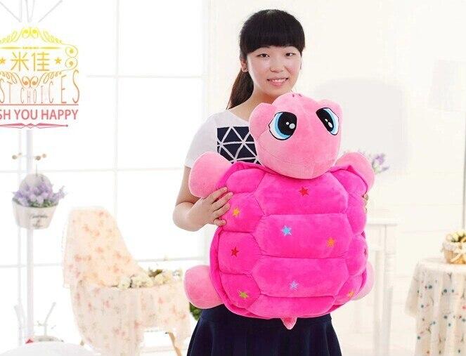 Livraison gratuite, peluche, grand 55 cm smiley tortue étoiles colorées tortue en peluche poupée, cadeau de noël w5895