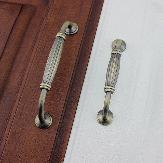 128mm European Antique Shoes Cabinet Drawer Wine Cabinet Door Closet Door  Handle Solid Bronze Handle Free