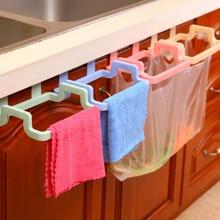 Portable Kitchen Trash Bag Holder Cupboard Door Back Hanging Rack Cabinets Cloth Towel Accessories Tools