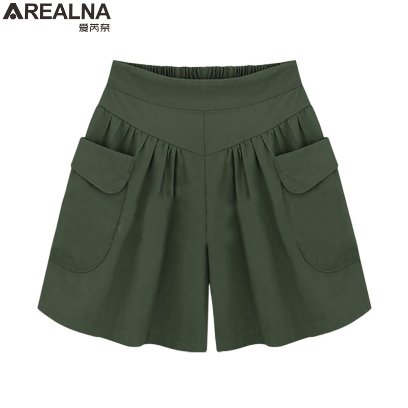 AREALNA hoge taille Chiffon shorts vrouwen 2018 Zomer losse Breed Been korte feminino Casual pantalones cortos mujer Plus size 5XL