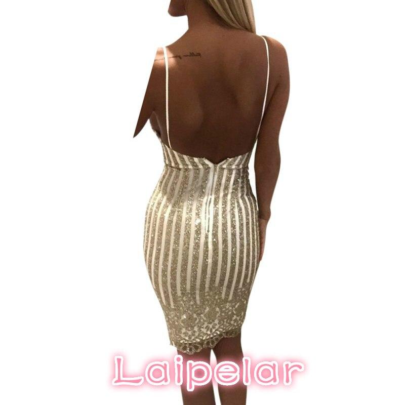 2018 summer Lady Sexy Party Night sequin dress Women V neck elegant vintage dresses Shinning Gold sequined Flower Lace Dress in Dresses from Women 39 s Clothing