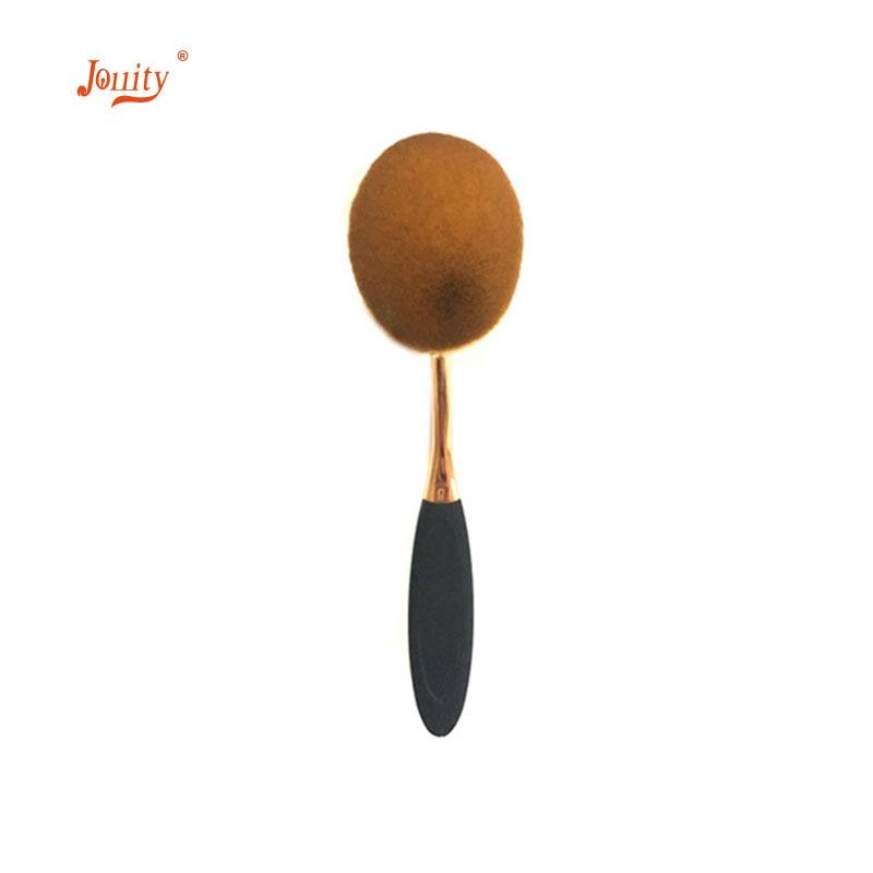 jollity 10pcs Makeup Brushes Set Toothbrush Shaped Oval Gold Colors Make Up Brushes Set Soft Foundation Powder Eyeliner Brushs