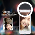 Andoer Clip-on Selfie Ring Light Mobile phone Selfie Light 5600K led video light for iPhone 7/7+/6s/6 Samsung Smartphones