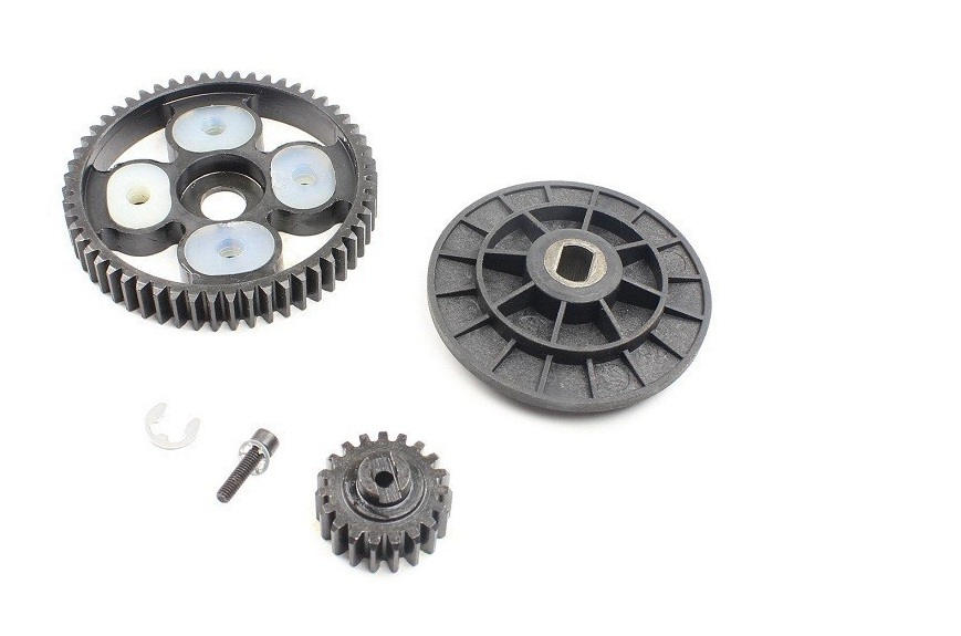 Metal 16/58 Tooth Spur Gear Set for 1/5 HPI RV Baja 5B 5T 5SC King Motor Buggy rc car gas parts baja 95175 57t metal gear assembly 5b 5t 5sc hpi km rovan baja 5b 5t sc ss 30 5cc truck buggy steel spur gear 57t 17t set