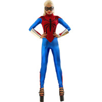 Spider Girl Bodysuit Womens Costume Super Heroes Halloween Costumes Long Sleeve Jumpsuit Spider Costumes L15148
