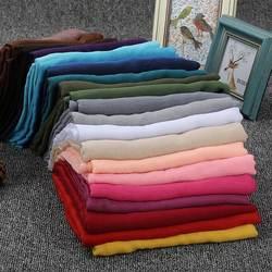 Для женщин шифон шаль одноцветное цвет модные обёрточная бумага шарф Мусульманский, арабский Исламская шаль-трансформер Bawal хиджаб 180x90 см