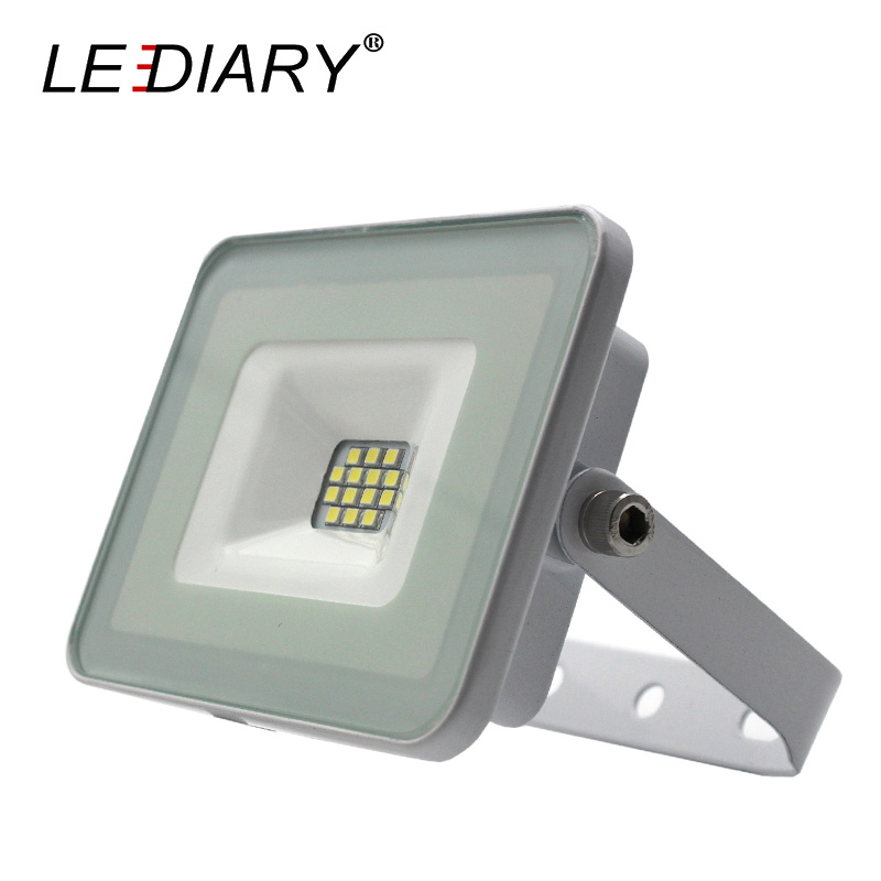 LEDIARY High Quality LED Floodlight 220V 10W White Body LED Projector Lamp Waterproof IP65 Landscape Lighting LED SMD Lawn Lamp