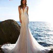 Jark Tozr Vestido De Noiva Sereia Mermaid Wedding Dress