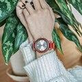 BOBO BIRD New Arrival Wooden bamboo Watches for Womens Leather Band Ladies wood Wrist Watch quartz in gift box erkek ko