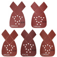 50pcs Sanding Sheets 40 80 120 180 240Grit Mouse Sanding Disc Sander Pad For Abrasive Tools