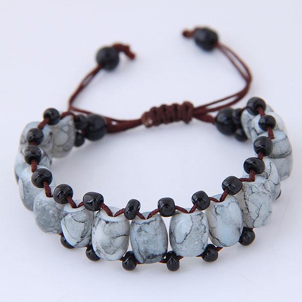 Handmade Cute resin Bracelet for Girls Boys candy Beads Connected Braid Charm bracelet Jewelry