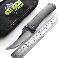 Green thorn BORKA 3D bearing folding knife M390 blade TC4 titanium alloy handle camping outdoor practical fruit knife EDC