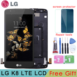 Original For LG K8 2016 LTE K350N K350E K350DS LCD Display With Touch Screen Digitizer Assembly With Frame