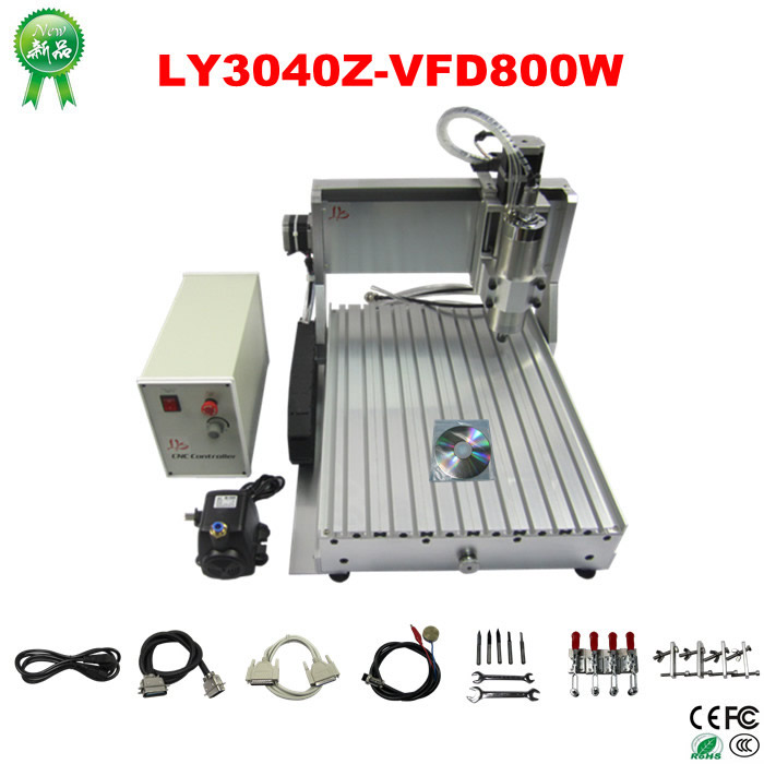 CNC wood carver LYCNC3040Z-VFD800W 3axis CNC router machine cnc engraving lathe for wood metal milling cnc 5axis a aixs rotary axis t chuck type for cnc router cnc milling machine best quality