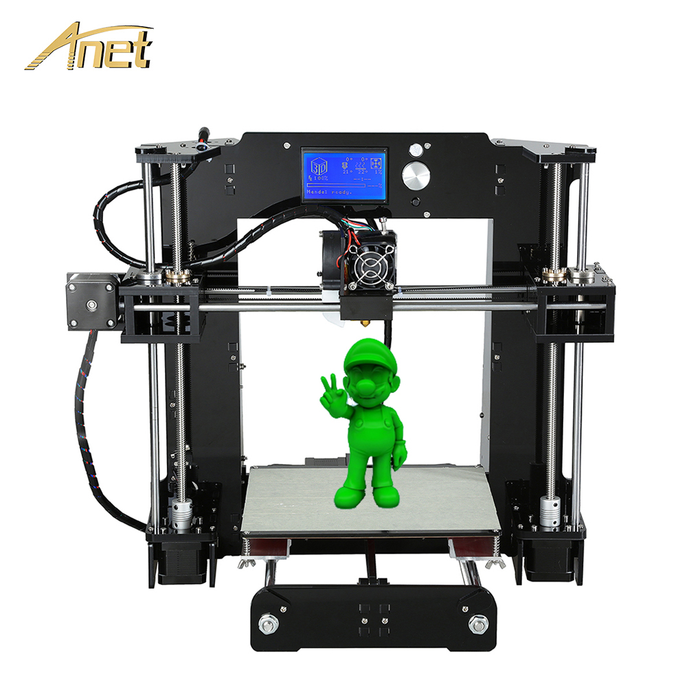 цена Anet A8 A6 3d-printer High Quality Aluminium Extrusion Easy Assemble Reprap Prusa i3 3D printer Kit DIY with PLA Filaments gift