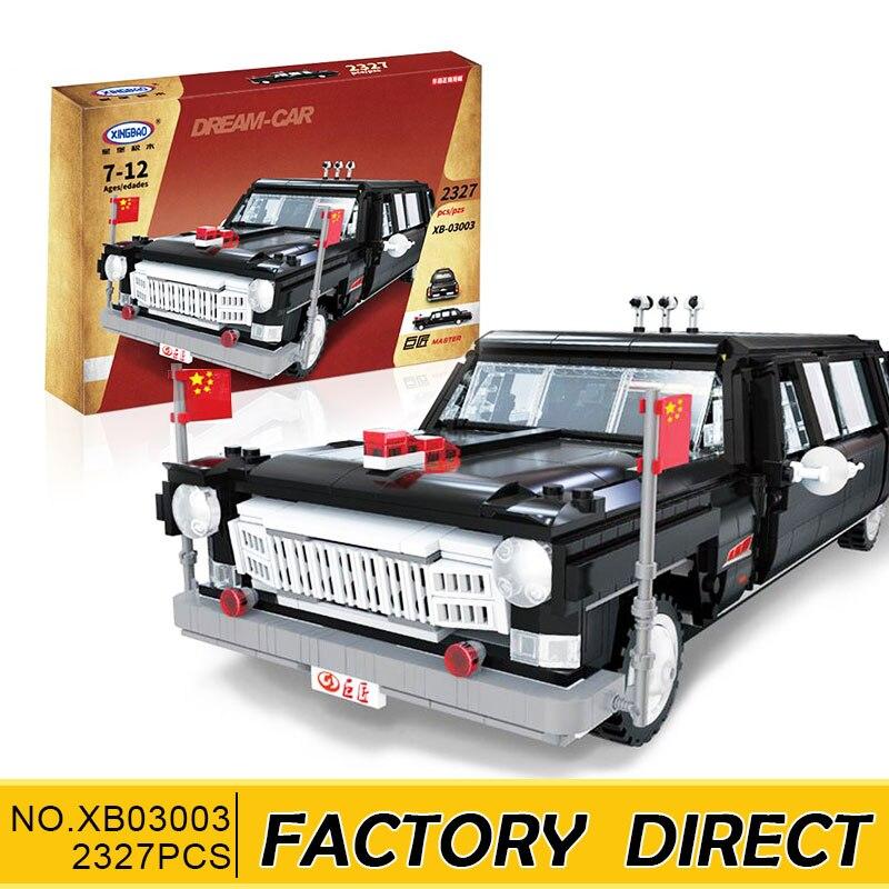 все цены на XingBao 03003 2327Pcs NEW Genuine Creative MOC Technic Series The HongQi Master Car Set Building Blocks Bricks Toys Model Gifts онлайн