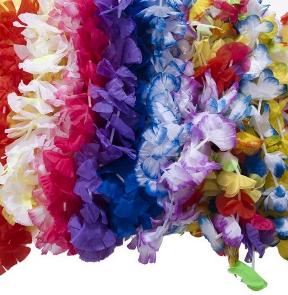 Online get cheap hawaiian flower necklace aliexpress 50 pcs hawaiian flower leis garland necklace fancy dress party hawaii beach fun flowers diy party dhlflorist Gallery