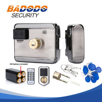 10 tags Electric lock & gate lock Access Control system Electronic integrated RFID Door Rim lock with IC reader 13.56MHZ