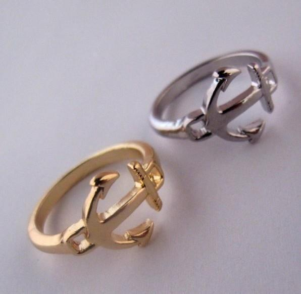 Timlee Free Shipping, R115 ,New Vintage Anchor Alloy Finger Rings,Fashion Jewelry Wholesale