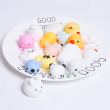1pc antistress ball Mini Squeeze Toys Squishy cat Slow Rising doll Stretchy Animal Healing Stress Hand