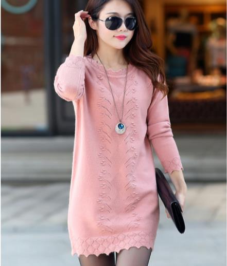 Women Sweaters Dress Pullovers New Winter Warm Long Knitted Sweater Knitwear Poncho Tunics Gray Black Plus Size Z857