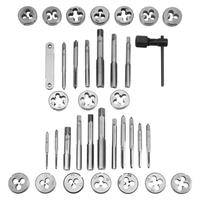 Screwdriver tap mold hand tool set 40 pieces M3 M12 thread tap and die wrench thread gauge