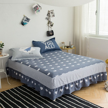 Home Textile 100% Cotton bed skirt Ruffled bed sheet set Twin Queen King Size Bedcover Bedsheet Reactive Printing Bedspread 3pcs