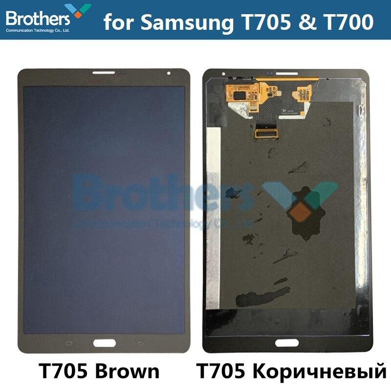 Tablet Écran LCD Pour Samsung Galaxy Tab S T705 T700 Panneau LCDAssembly pour T705 T700 Avec Écran Tactile Digitizer Verre 8.4 «AAA