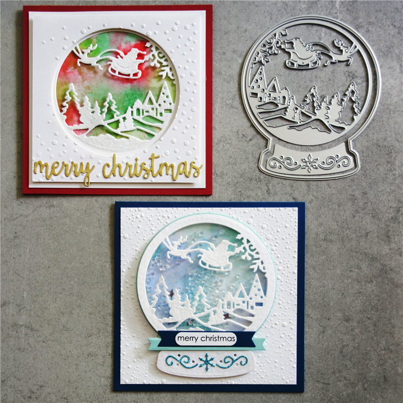 Diyarts Cutting-Dies Die-Cut Scene-Decor Scrapbooking Embossing Globe Christmas Metal