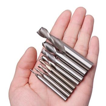 Fresa de mango recto HSS de 2 flauta de alta calidad, fresa de 4mm, 6mm, 8mm, 10mm y 12mm, herramienta de corte CNC